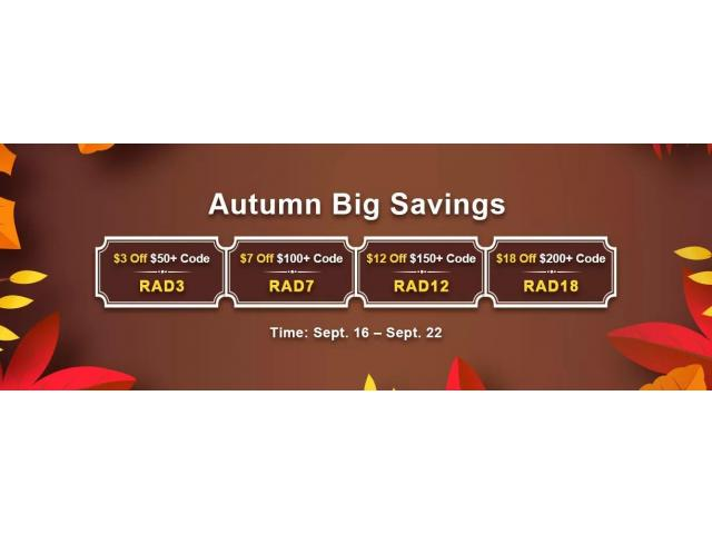 Remember to Join RSorder Autumn Big Savings to Enjoy $18 Voucher for RS3 Gold